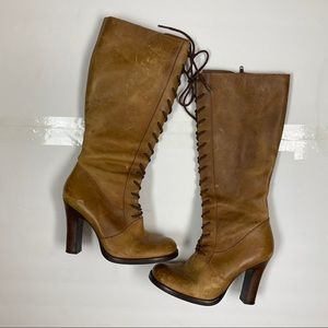 Steve Madden Clapton Victorian Lace Up Heel Boots